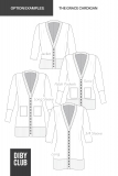 The Grace Button Up Cardigan Womens Sewing Pattern Options Example