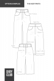 Hedy Wide Leg Jeans PDF Sewing Pattern Options Examples