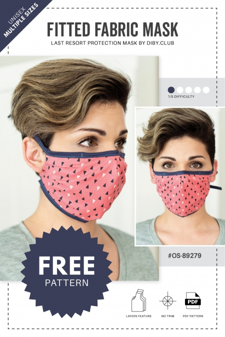 Fabric Face Mask Sewing Pattern Cover Photo 2